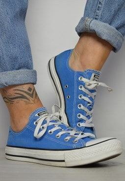 Vintage 90s Converse Blue Ox Shoes Grunge Retro Preppy