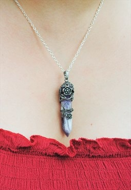 MoonChild Wisteria Amethyst necklace