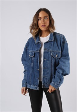 Vintage Denim Jacket Oversized Fitted UK 18 XXL (HC3T)
