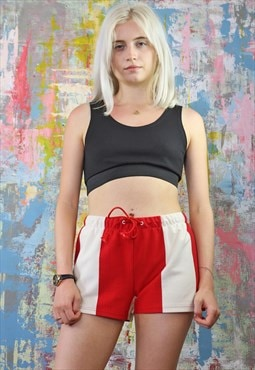 Strawberries n Cream  Striped Drawstring Shorts