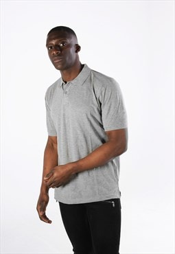 Essential Short Sleeve Collared Polo Shirt Top - Grey