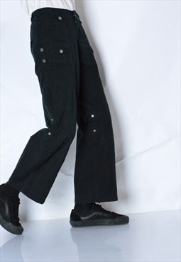 Y2K Black Grunge Womens Pants