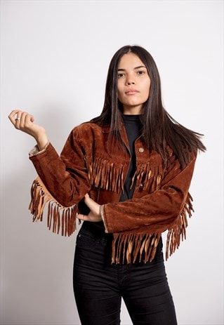 DEEP BROWN VINTAGE FLARE LEATHER JACKET
