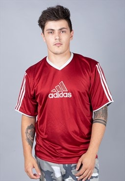 Maroon Adidas Football Shirt
