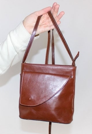 VINTAGE 90'S LEATHER MINI SHOULDER BAG