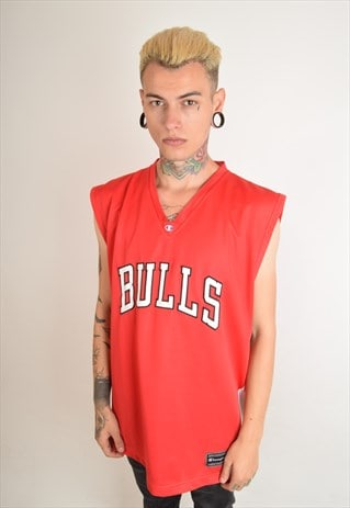 VINTAGE CHAMPION BASKETBALL TANK TOP BULLS (2463)