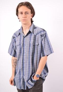 Vintage Wrangler Shirt Short Sleeve Check Multi