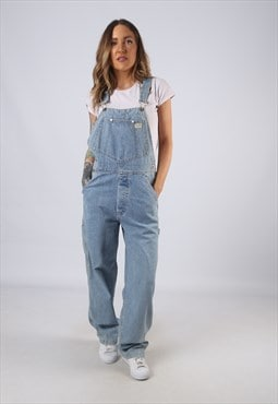 Vintage GUESS Denim Dungarees Wide Leg UK 10 Small (C1O)
