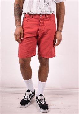 Trussardi Mens Vintage Shorts W34 Red 90s