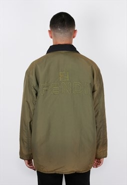Vintage Fendi Reversible Logo Coat