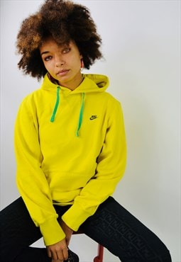 Vintage Nike Yellow Swoosh Thick Cotton Hoodie
