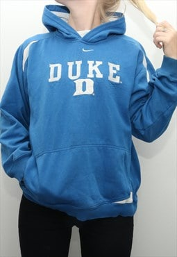 Nike - Blue Middle Swoosh Duke Hoodie - Large