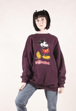 Vintage Disney Mickey Mouse Purple Sweatshirt /MM2379