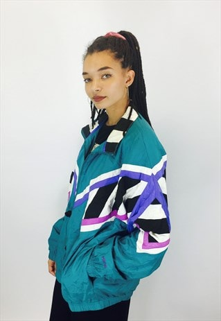 VINTAGE HEADL 80S RAVE WINDBREAKER JACKET
