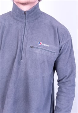 Vintage Berghaus Polartec Fleece Jacket Grey Large