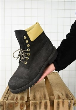 Black Vintage Timberland Work Boots