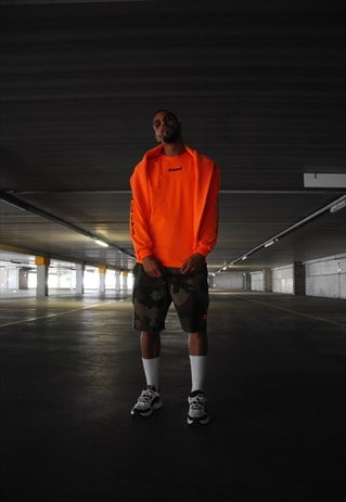 Baad t-shirt long sleeve orange Watch The Fall ( BLACK 2.0)