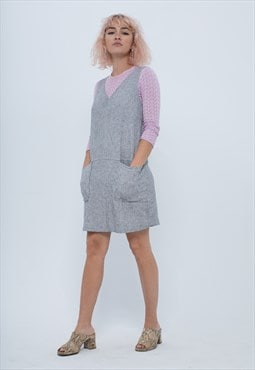 Grey Hemp Mini Sundress