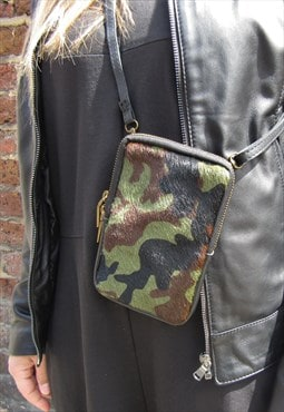 Camouflage Phone Case Camo Leather Phone Case Strap