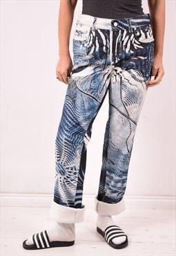 Roberto Cavalli Womens Vintage Jeans W34 L35 Multi 90s