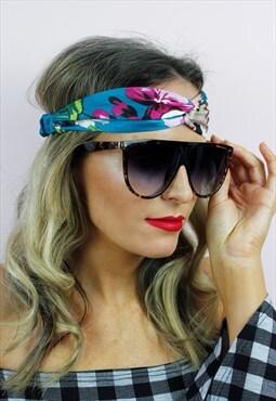 Tortoise Shell Oversized Retro Summer Sunglasses