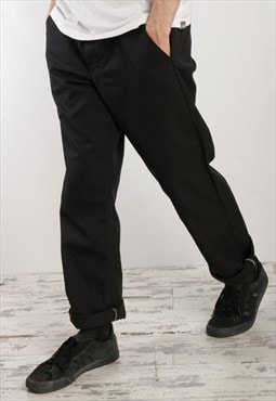Dickies Slim fit flat front Trousers Black O5