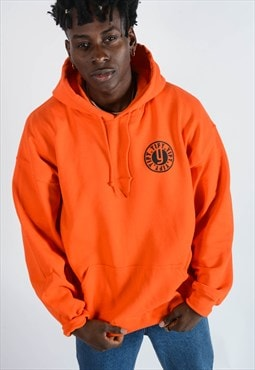 Hoodie in Orange with Back Print .