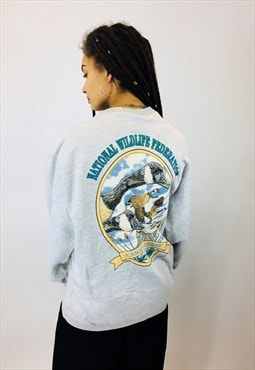 Vintage National Wildlife Print Sweatshirt