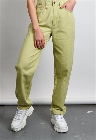 VINTAGE 90'S ROSEMARY NEON GREEN MOM JEANS