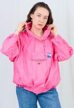 Oversized pink jacket windbreaker Ocean Skila vintage 90s