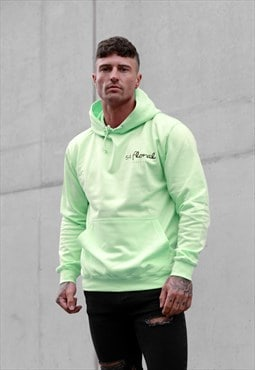 54 Floral Mini Core Hoody - Neon Lime Yellow Green