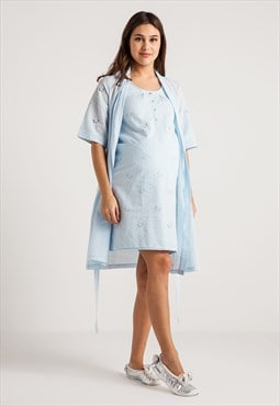 30103 cotton nightgown robe