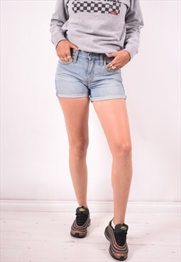 Levi's 515 Womens Vintage Denim Shorts W30 Blue 90s