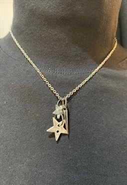 neck chain with stars and stud charms
