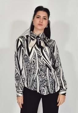 JUST CAVALLI shirt white and black