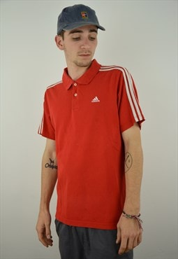 Classic Climalite Adidas Polo Shirt Red
