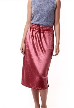 90s Vintage Champion Velour Midi Skirt 1566