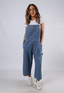 Vintage GAP Denim Dungarees Wide Short Leg UK 16 XL (HC3G)