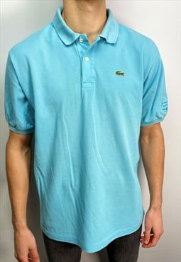 Vintage Lacoste polo shirt in baby blue