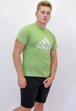 Vintage Adidas T-Shirt in Green with Large Logo