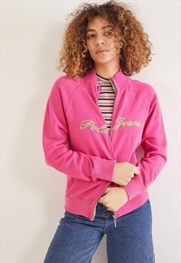 Vintage Ralph Lauren Polo Jeans Zip-Up Sweatshirt Pink