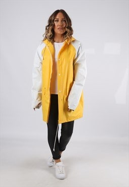PVC Raincoat Mac Hooded Jacket Waterproof Festival (G9EL)