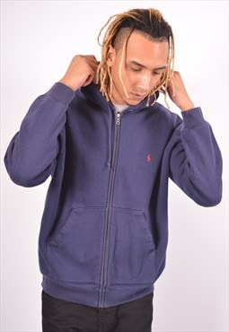 Vintage Polo Ralph Lauren Hoodie Sweater Blue