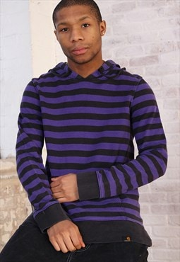Vintage Carhartt Striped Hoodie Purple
