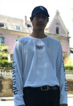 Baad t-shirt long sleeve  white  babylon advisory off ride
