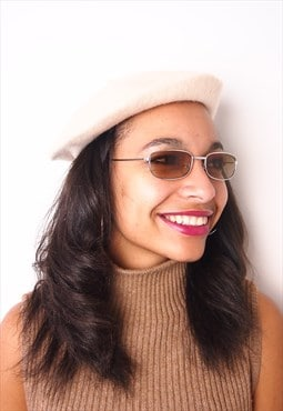 Cream Oatmeal Wool Winter Beret