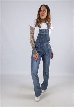 Vintage Denim Dungarees Bootcut Flared Leg UK 8 XS (CK4C)
