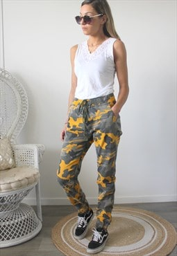 trousers printed camouflage