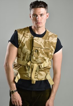 Vintage Camo Army Utility Vest
