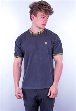 Vintage Fred Perry Ringer T-Shirt in Black